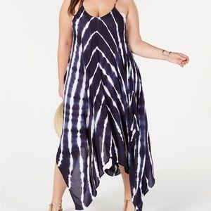 Raviya Tie-Dyed Blue Sharkbite Maxi Dress Cover-Up